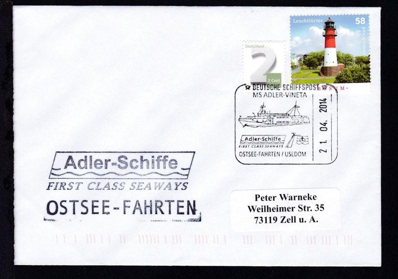 DEUTSCHE SCHIFFSPOST MS ADLER-VINETA Adler-Schiffe FIRST CLASS SEAWAYS