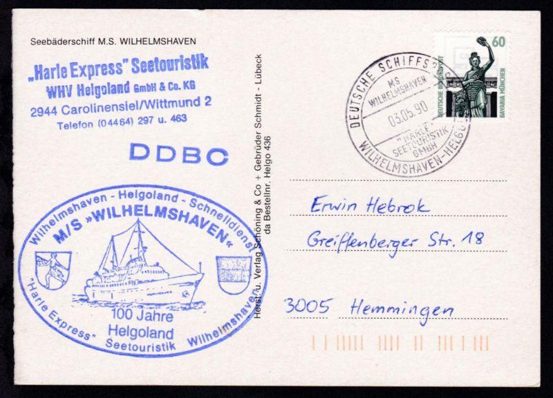 DEUTSCHE SCHIFFSPOST MS WILHELMSHAVEN