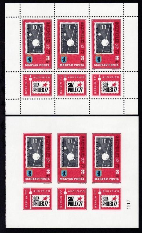 Internationale Briefmarkenausstellung Sozphilex '77 in Berlin,