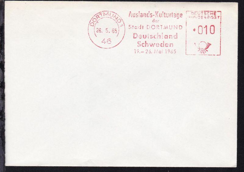 Dortmund AFS DORTMUND 1 46 26.5.65 Auslands-Kulturtage der Stadt DORTMUND 0