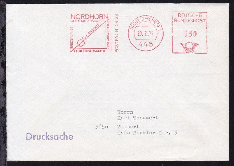 Nordhorn AFS NORDHORN 1 446 20.2.75 NORDHORN STADT DER ZUKUNFT EUROPASTR. 72