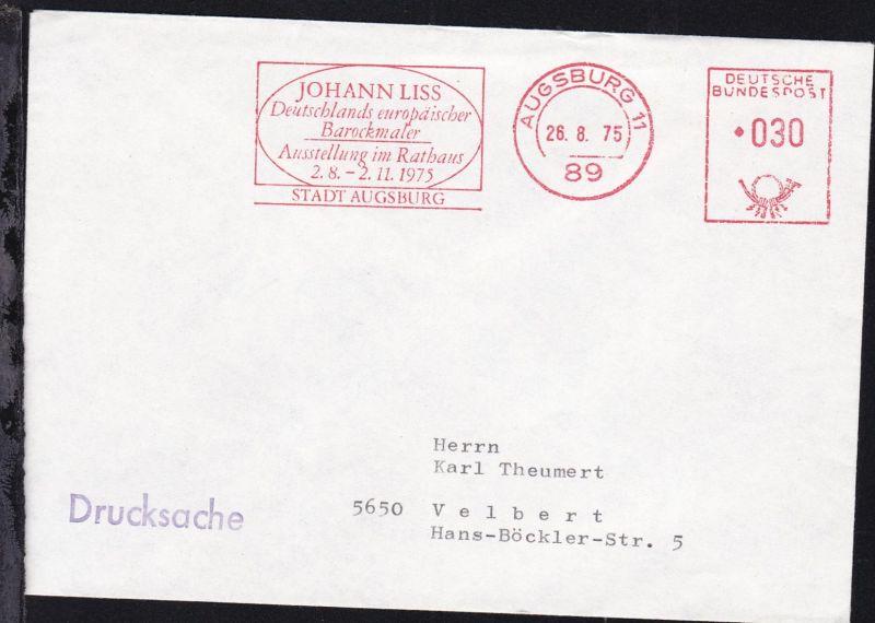 Augsburg AFS AUGSBURG 11 89 26.8.75 JOHANN LISS Deutschlands europäischer