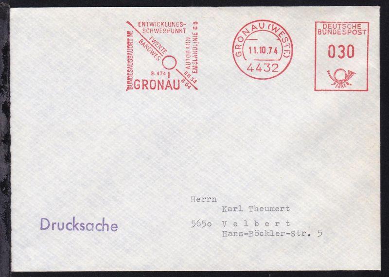 Gronau AFS GRONAU (WESTF.) 4432 11.10.74 ENTWICKLUNGS-SCHWERPUNKT GRONAU 0