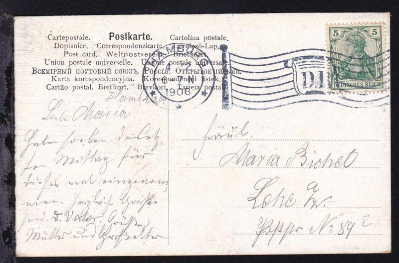 HANBURG 4.12.1906 *** D.R. auf CAK (Leeuwarden)