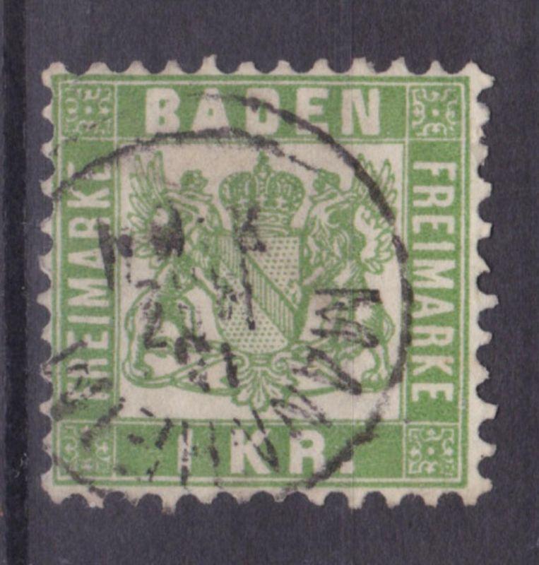Wappen 1 Kr. mit K1 MANNHEIM 15 MRZ