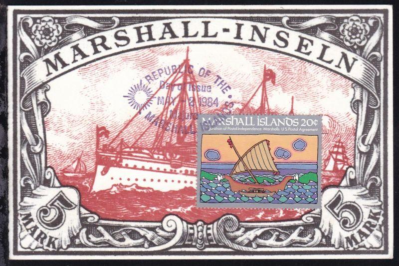 Postalische Unabhängigkeit 20 C. auf Ersttagskarte
