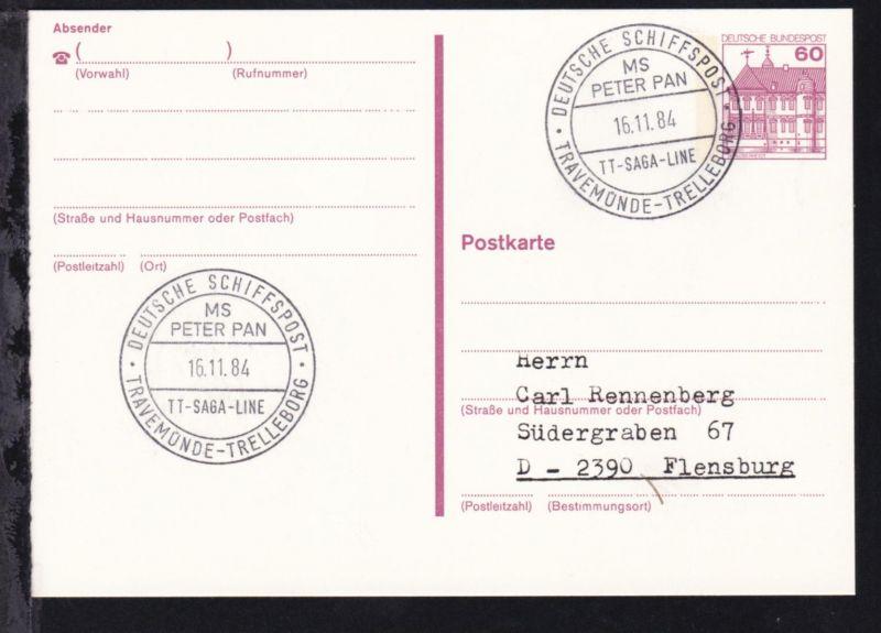 DEUTSCHE SCHIFFSPOST MS PETER PAN TT-SAGA-LINE TRAVEMÜNDE-TRELLEBORG 16.11.84