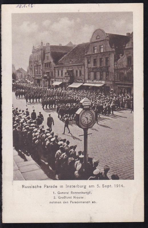 Russische Parade in Insterburg am 5. Sept. 1915