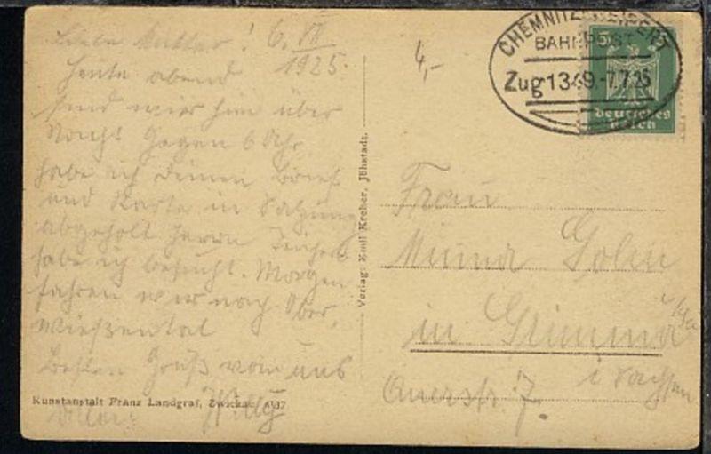 CHEMNITZ-WEIPERT Zug 1349 7.7.25 auf AK