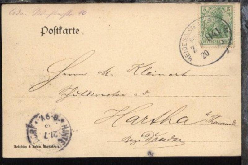 HEIDE (HOLSTEIN)-BÜSUM ZUG 1141 20.(7).05 auf CAK, Stpl. ohne Monatszahl