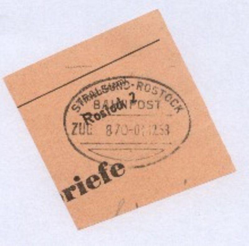 STRALSUND-ROSTOCK ZUG 870 01.12.58 auf Bf.-Stück