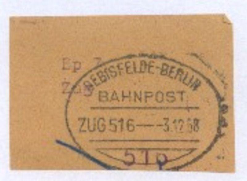 OEBISFELDE-BERLIN ZUG 516 3.12.58 auf Bf.-Stück