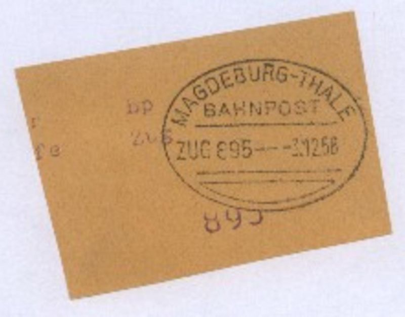 MAGDEBURG-THALE ZUG 895 3.12.58 auf Bf.-Stück
