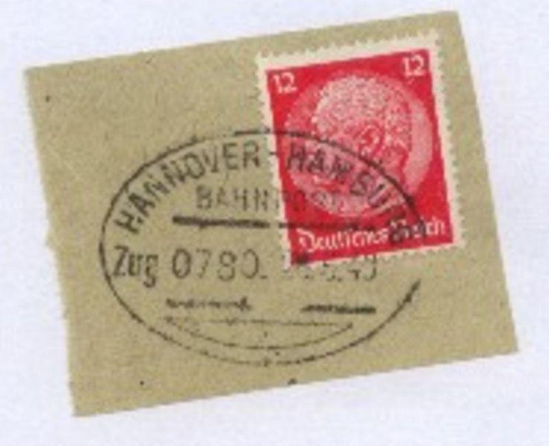HANNOVER-HAMBURG Zug 0780 26.6.40 auf Bf.-Stück