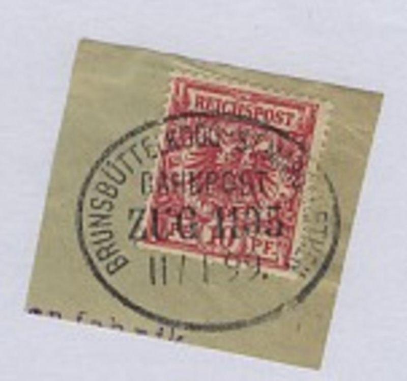 BRUNSBÜTTELKOOG-ST. MARGARETHEN ZUG 1105 11.1.99 auf Bf.-Stück