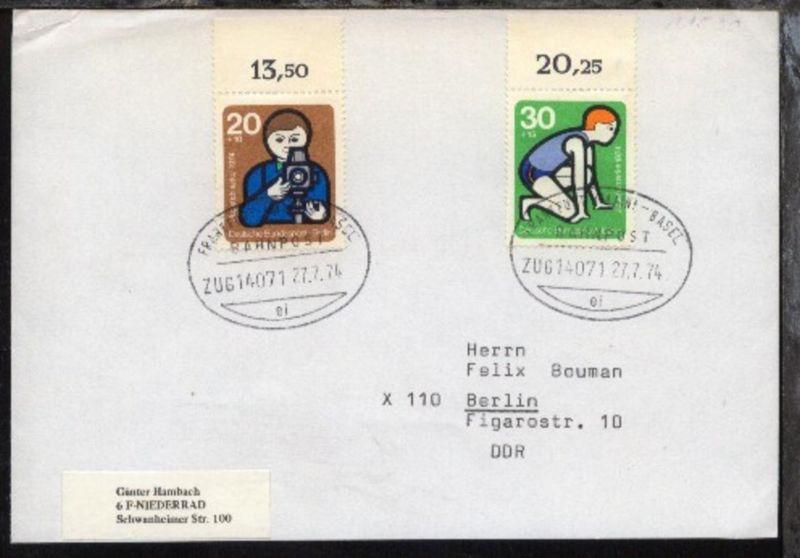 FRANKFURT(MAIN)-BASEL ei ZUG 14071 27.7.74 auf Bf.