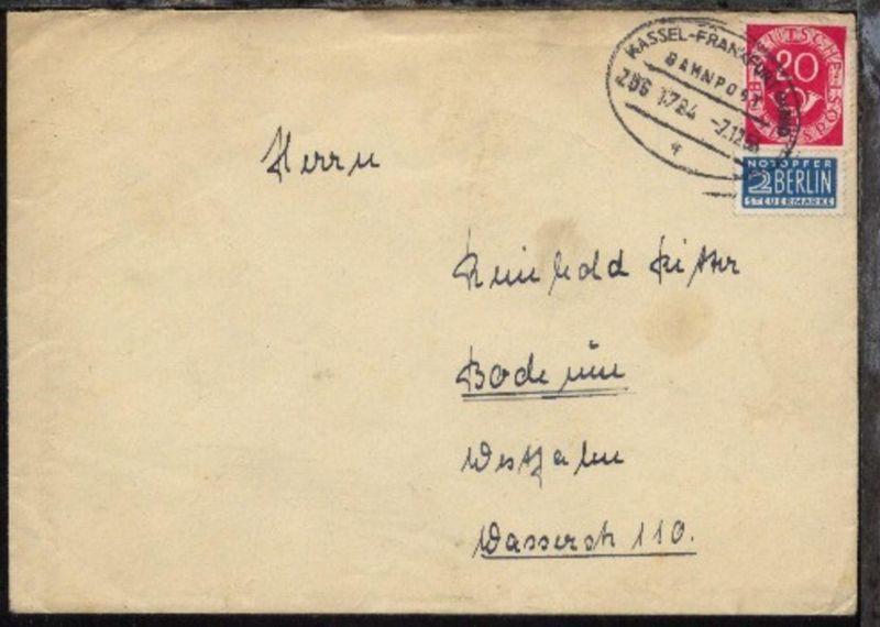 KASSEL-FRANKFURT (MAIN) f ZUG 1724 7.12.53 auf Bf.
