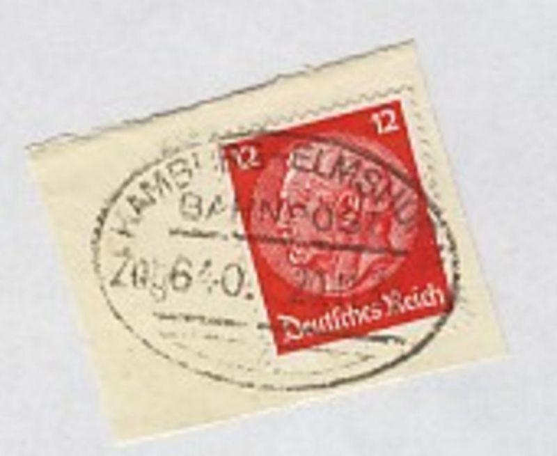 HAMBURG-ELMSHORN Zug 640 20.11.36 auf Bf.-Stück