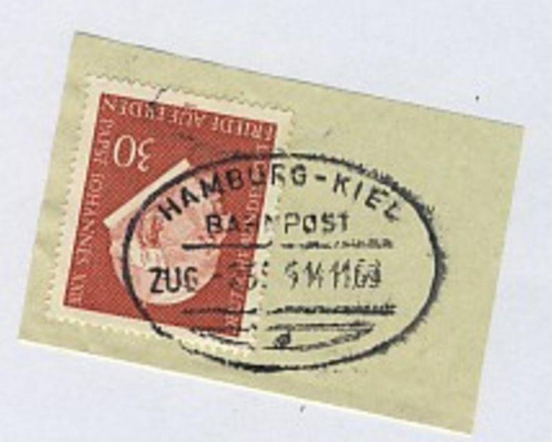 HAMBURG-KIEL d ZUG 2585 14.11.69 auf Bf.-Stück