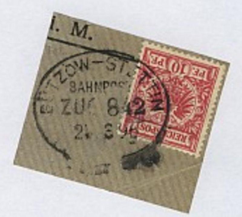 BÜTZOW-STETTIN ZUG 842 21.3.96 auf Bf.-Stück