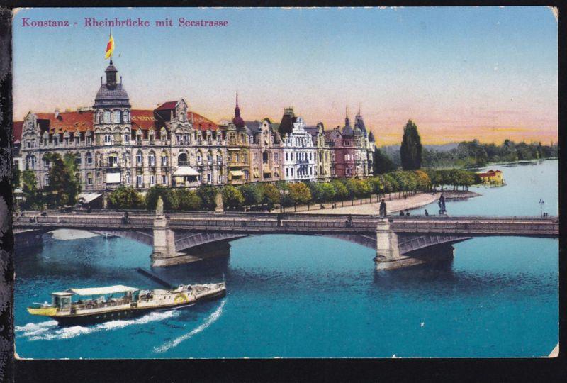 FRIEDRICHSHAFEN Schiffspost auf dem Bodensee ++ 20.8.28 auf CAK (Konstanz 1