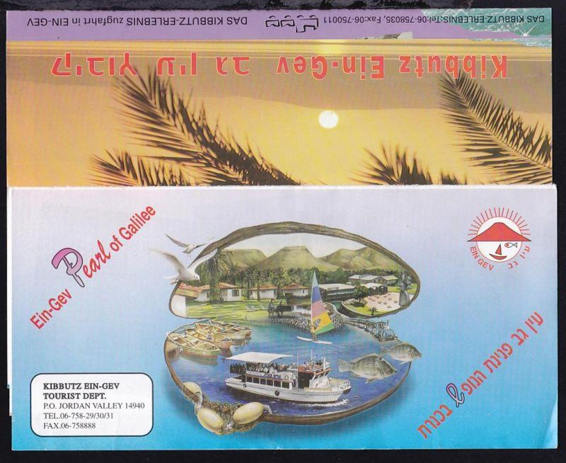 1996 Urkunde für Fahrt auf dem See Genezareth, dazu Prospekt der Genezareth- 1