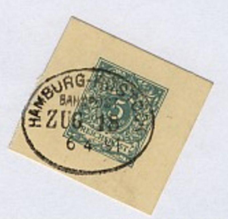 HAMBURG-ROSTOCK ZUG 18 6.4.91 auf Bf.-Stück 0