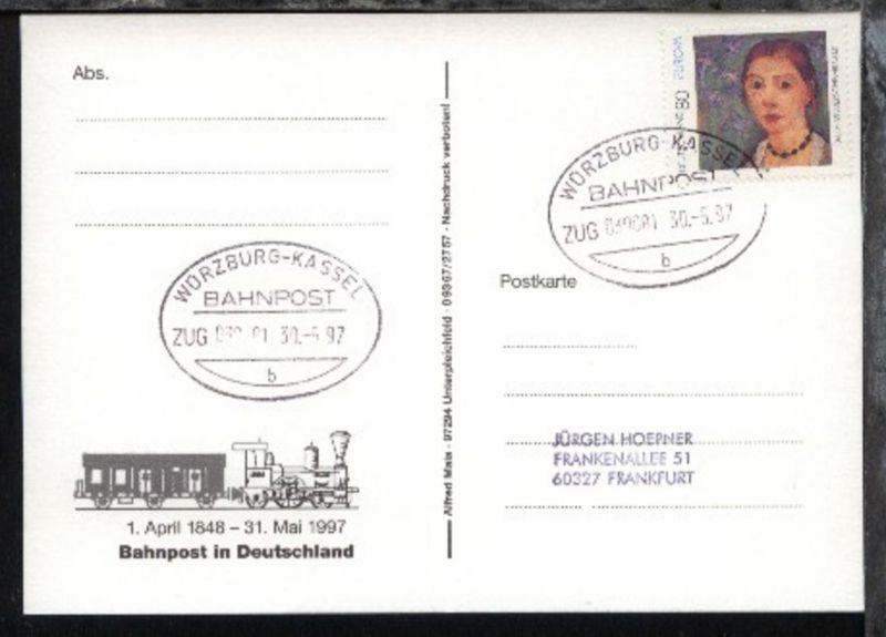 WÜRZBURG-KASSEL b ZUG 039081 30.5.97 auf AK