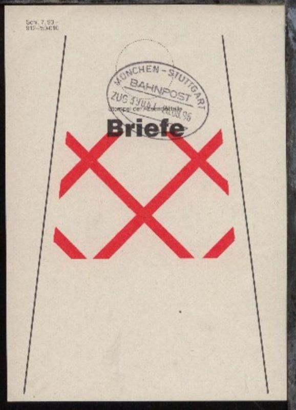 MÜNCHEN-STUTTGART e ZUG 39061 26.08.96 auf Beutelfahne