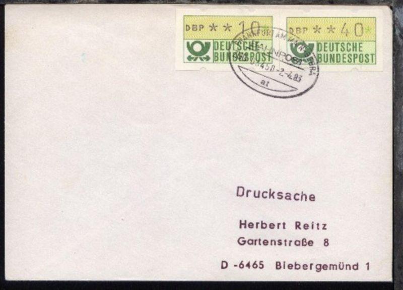 FRANKFURT AM MAIN-BEBRA at ZUG 03450 2.4.83 auf Bf.