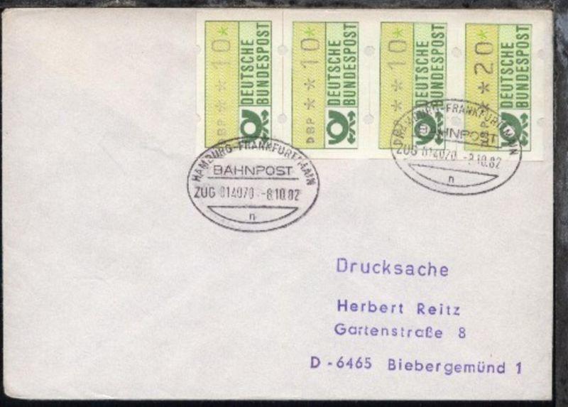 HAMBURG-FRANKFURT/MAIN n ZUG 014070 8.10.82 auf Bf.