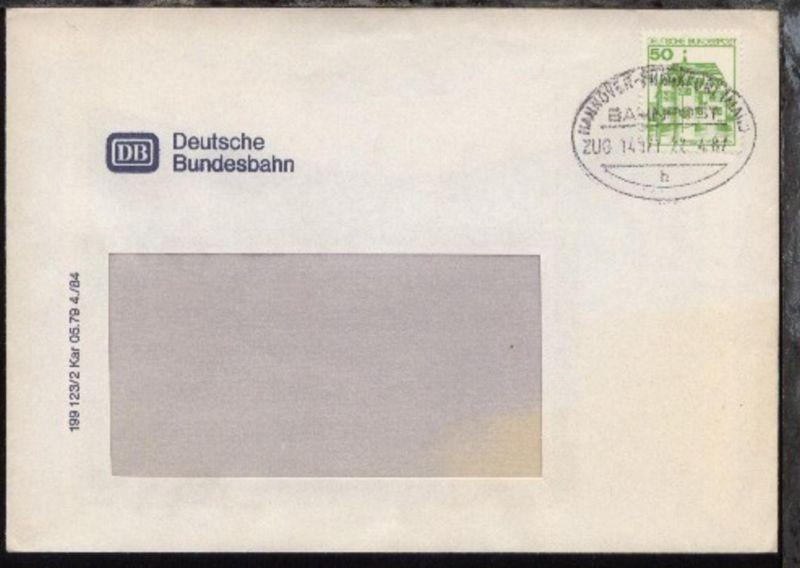 HANNOVER-FRANKFURT (MAIN) h ZUG 14021 22.4.87 auf Fenster-Bf. 0