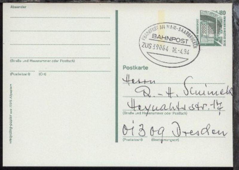 FRANKFURT AM MAIN-SAARBRÜCKEN ZUG 39064 16.4.94 auf GSK