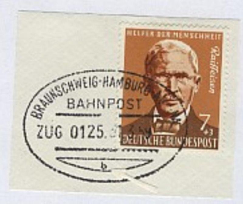 BRAUNSCHWEIG-HAMBURG-ALTONA b ZUG 0125 31.3.59 auf Bf.-Stück