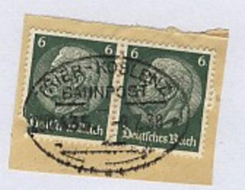 TRIER-KOBLENZ ZUG 435 9.7.38 auf Bf.-Stück
