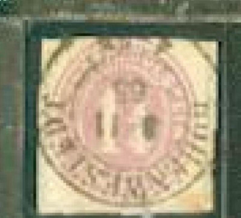 1¼ Sch. auf Bf.-Stück mit K2 HOHENWESTEDT 8.11.65, Marke oben etwas angeschnitte
