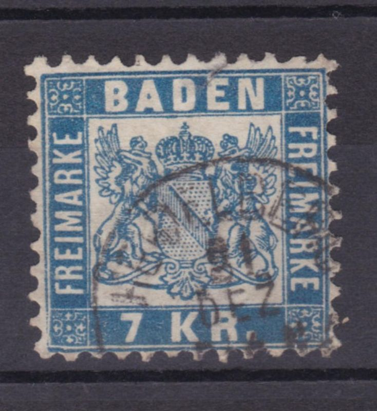 Wappen 7 Kr. mit K1 HEIDELBERG 21 DEZ