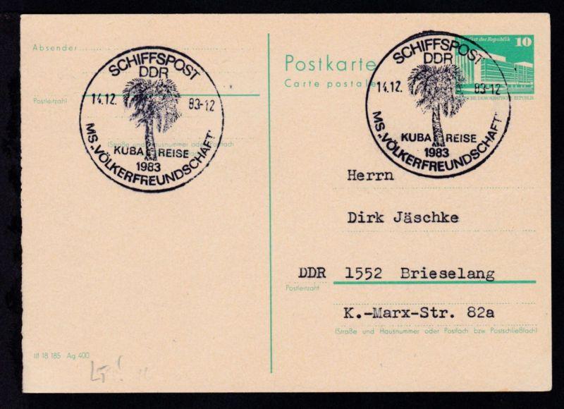 SCHIFFSPOST DDR K…REISE 1983