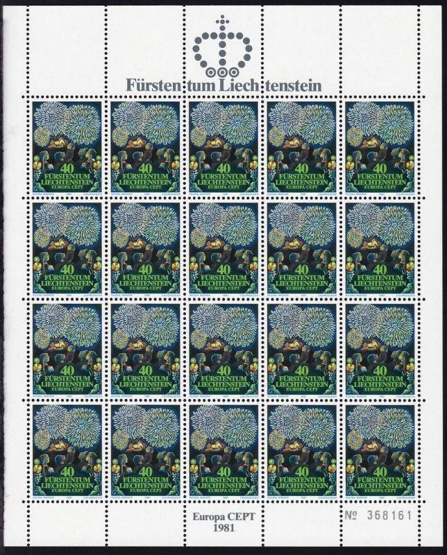 Europa 1981 Folklore, komplette Bögen **