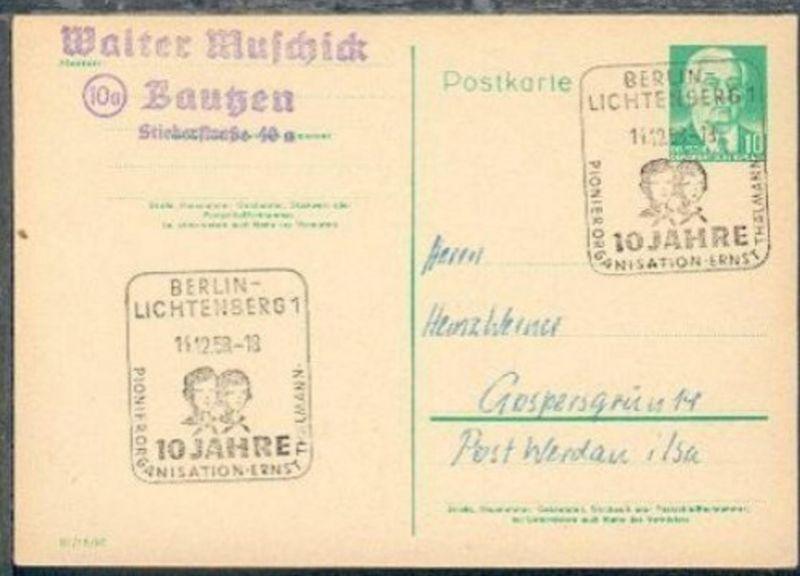 Berlin SSt. BERLIN-LICHTENBERG 1 10 JAHRE PIONIER ORGANISATION ERNST THÄLMANN 14