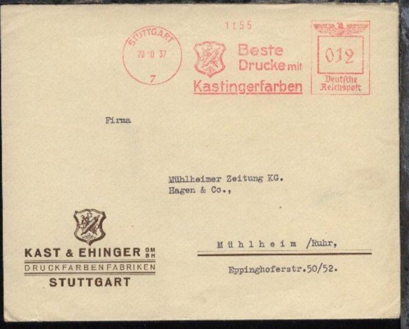 Stuttgart AFS STUTTGART 7 20.10.37 Beste Drucke mit Kastingerfarben (012)
