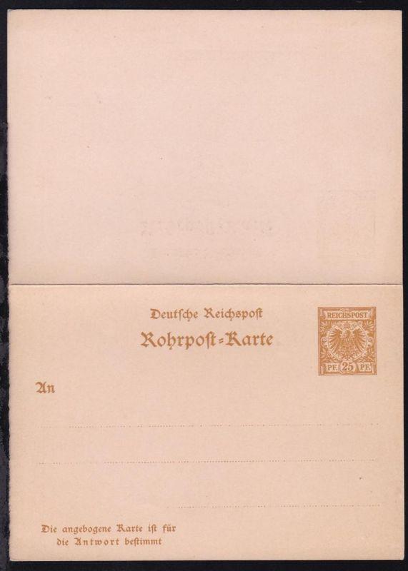 Rohrpost-Karte 25/25 Pfg.