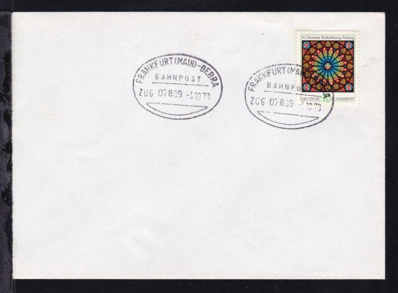 FRANKFURT (MAIN)-BEBRA ZUG 07889 4.10.78 auf Brief ohne Anschrift