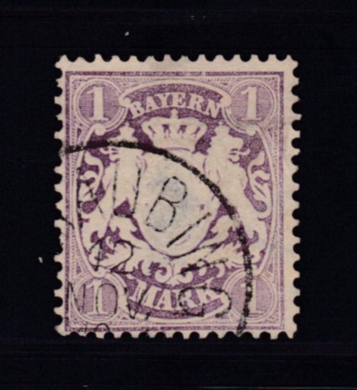 Wappen 1 M., dünne Stelle