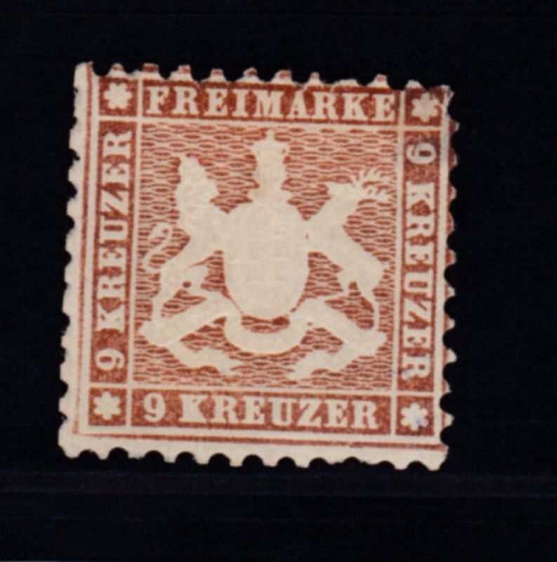 Wappen 9 Kr., *,Gummi teilweise fehlend, gepr. Franke, Müller-Mark und Rohr
