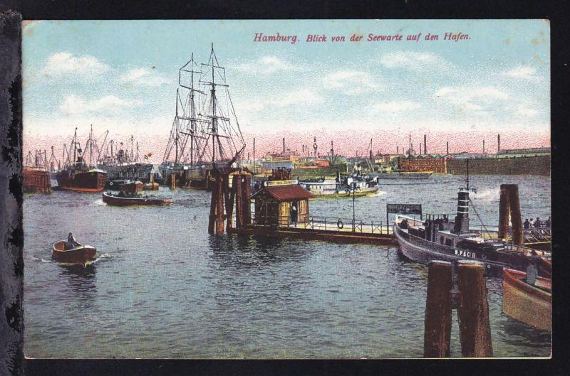 Hamburg Blick von der Seewarte auf den Hafen