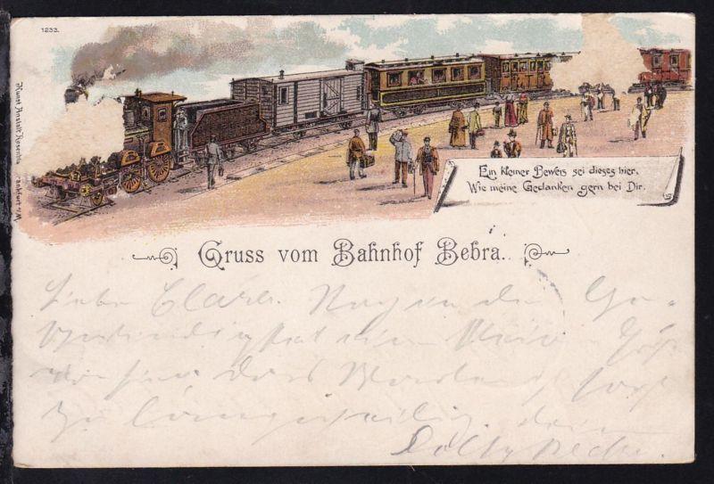Gruss vom Bahnhof Bebra, Karte Schürfstelle