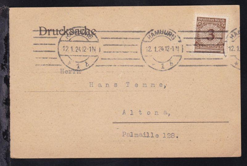 Hamburg Drucksache des Ostasiatischen Verein Hamburg ab Hamburg 12.1.24