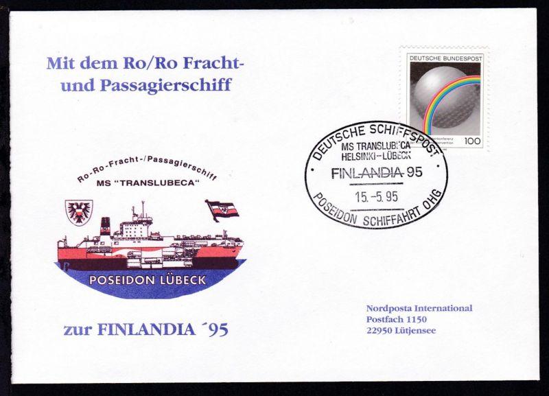 DEUTSCHE SCHIFFSPOST MS TRANSLUBECA HELSINKI-LÜBECK FINLANDIA 95