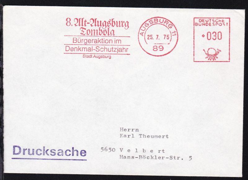 Augsburg AFS AUGSBURG 11 89 25.7.75 8. Alt-Augsburg Tombola Bürgeraktion im 0